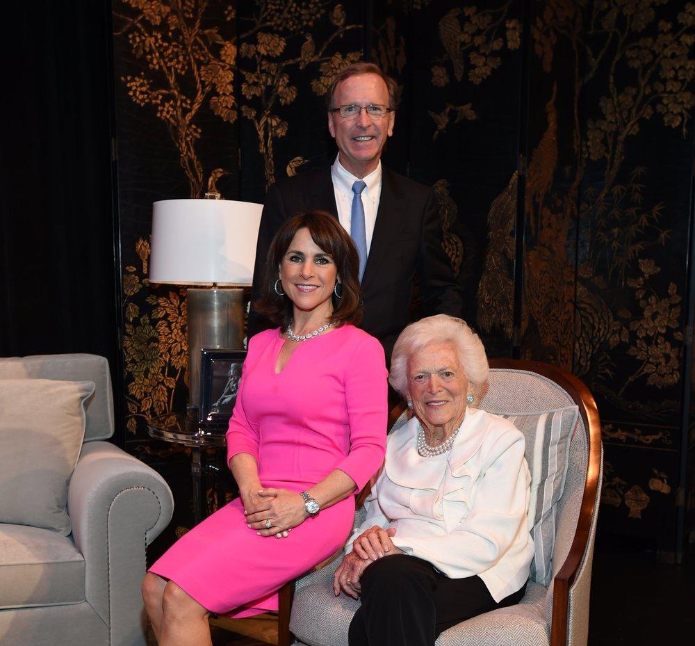 Neil and Maria Bush, Barbara Bush; Photo by David Shutts.JPG