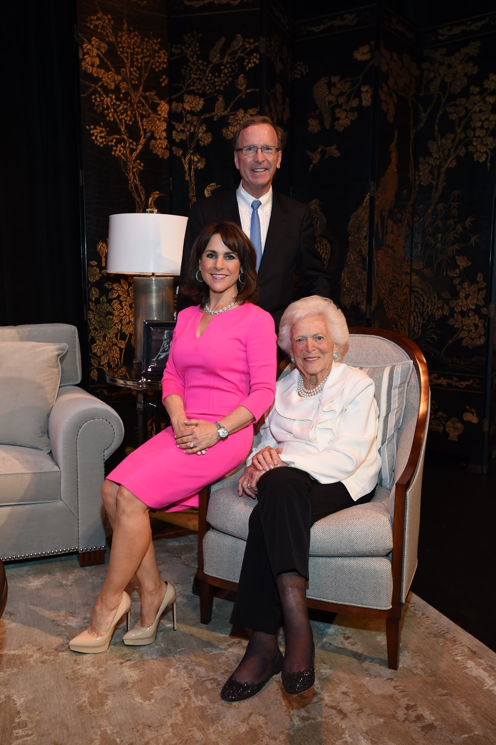 Neil and Maria Bush, Barbara Bush; Photo by David Shutts.JPG