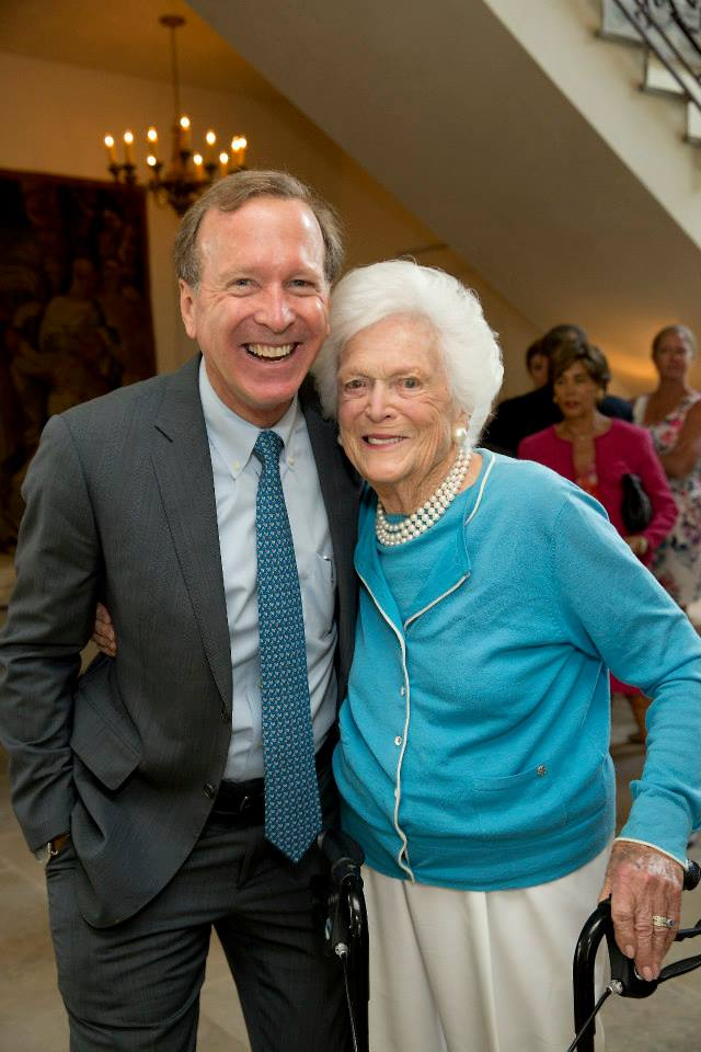 Neil with Mrs. Bush HCOR Luncheon.jpg
