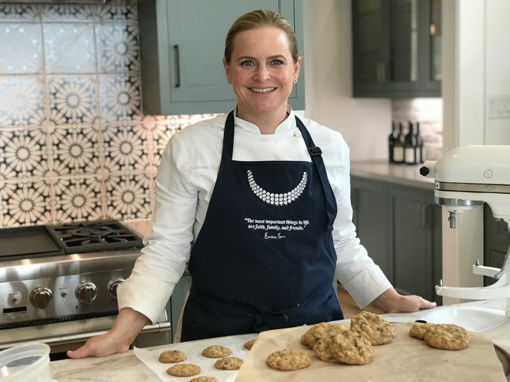… and Catherine Rodriguez, who baked Mrs. Bush's famous cookies in the  Stone Acorn Builders  Southern Living Showcase Home today. What a treat!