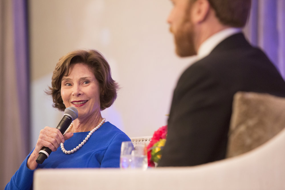 Laura Bush and Pierce Bush; Photo by Jenny Antill (3).jpg