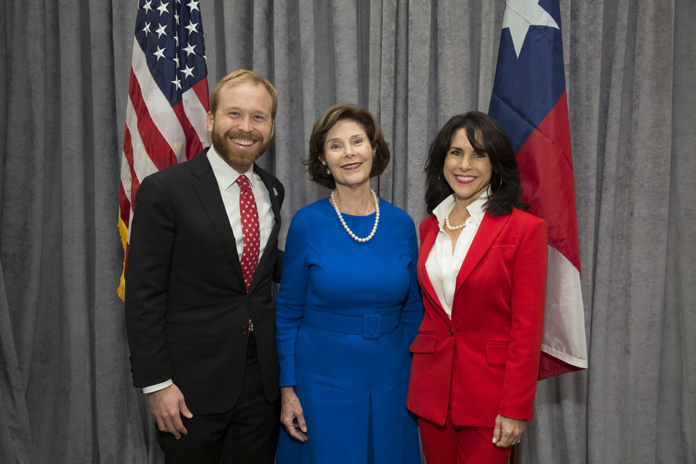 Pierce Bush, Laura Bush, Maria Bush; Photo by Jenny Antill.jpg