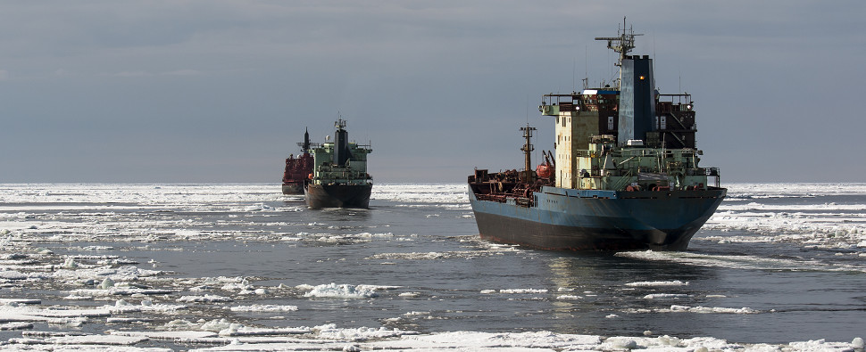 THE WARMING OF THE ARCTIC OCEAN HAS LED TO CONSIDERABLE LOSS OF ICE: This leads to the possibility that the north could serve as a major shipping route, cutting transit times between Asia, Europe, and North America.