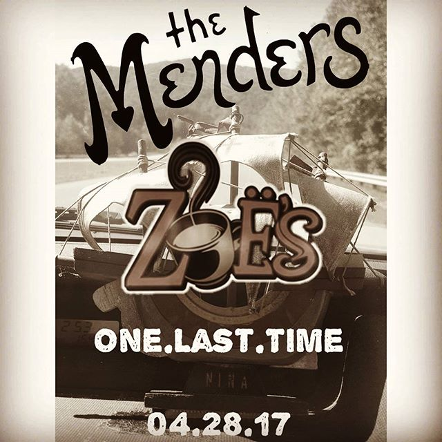 Tomorrow. #livemusic #gastoniamusic #gastoniaeats #lasttime #sayinggoodbye #curtaincall #thefinalpour #zoes #love #home