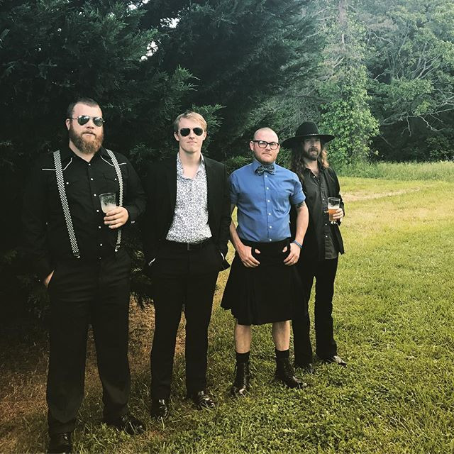 We so fancy. #ncmusic #weddings #garagerock #fancy