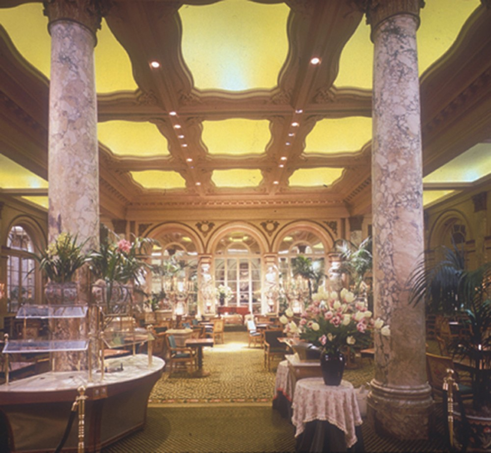 Plaza - Interior - Tea Room with Yellow Ceiling.jpg
