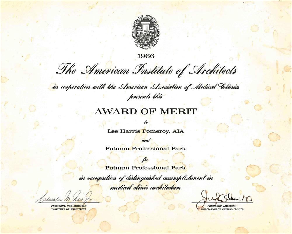 1966 AIA Putnam Prof Park