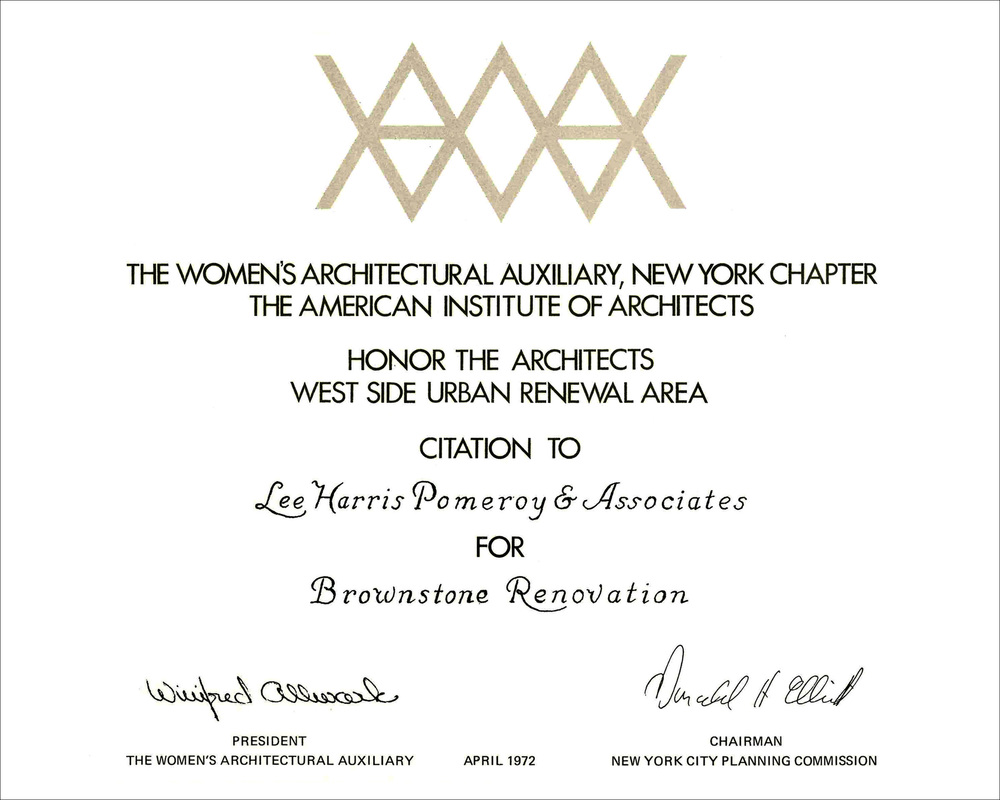 1972 Womens AIA NY Brownstone Renovation