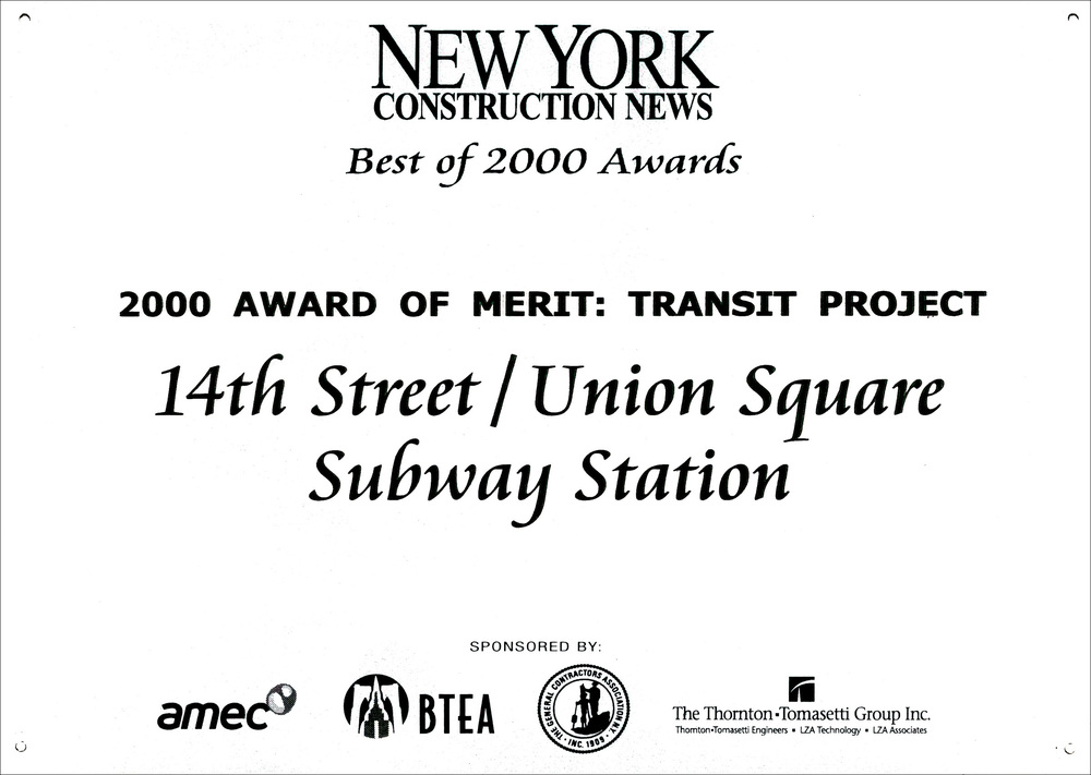 2000 NY Const News 14rth St Union Sq