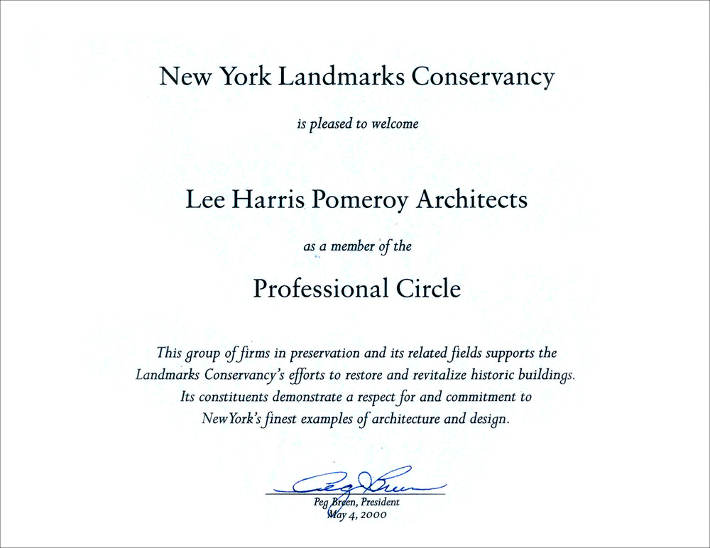 2000 NY Landmarks Conservancy Professional Circle