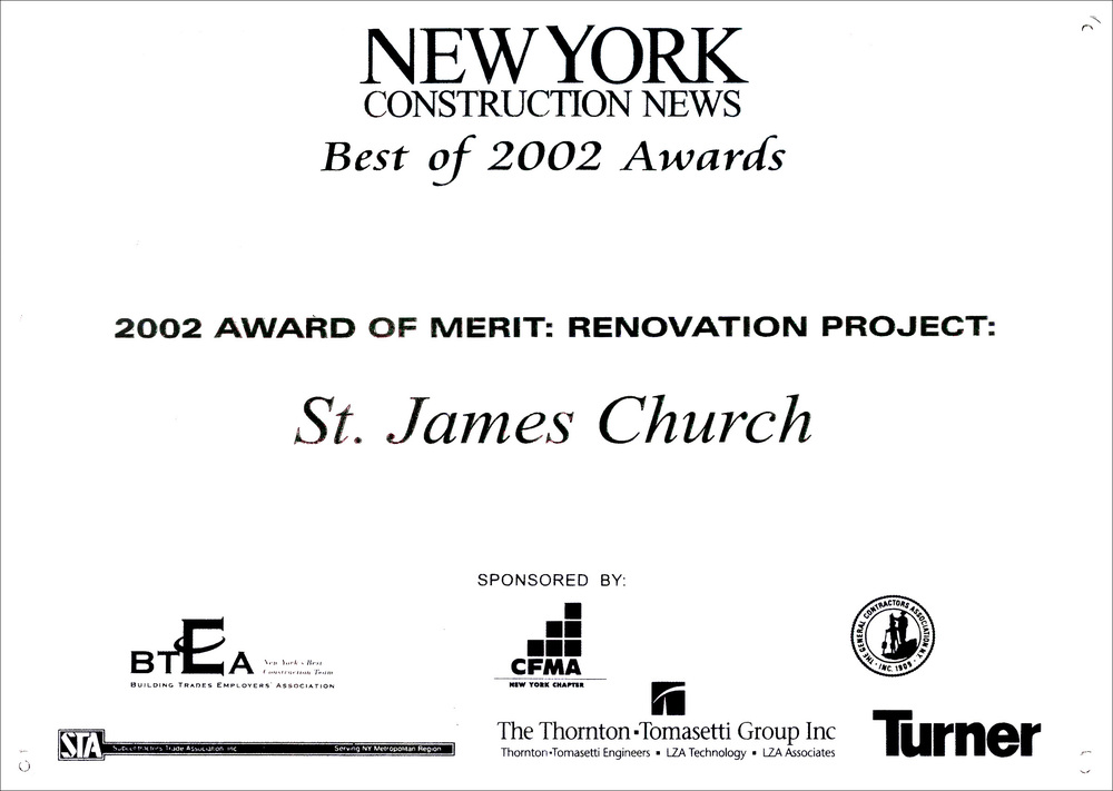 2002 NY Const News St James Church