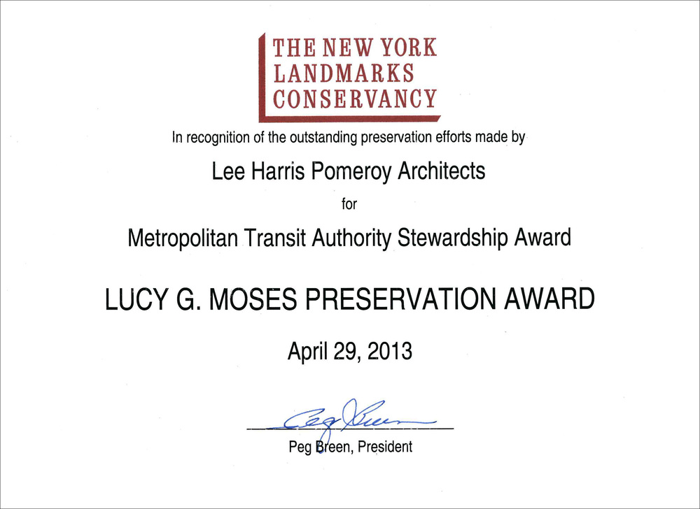 2013 NY Landmarks Conservancy Lucy Moses