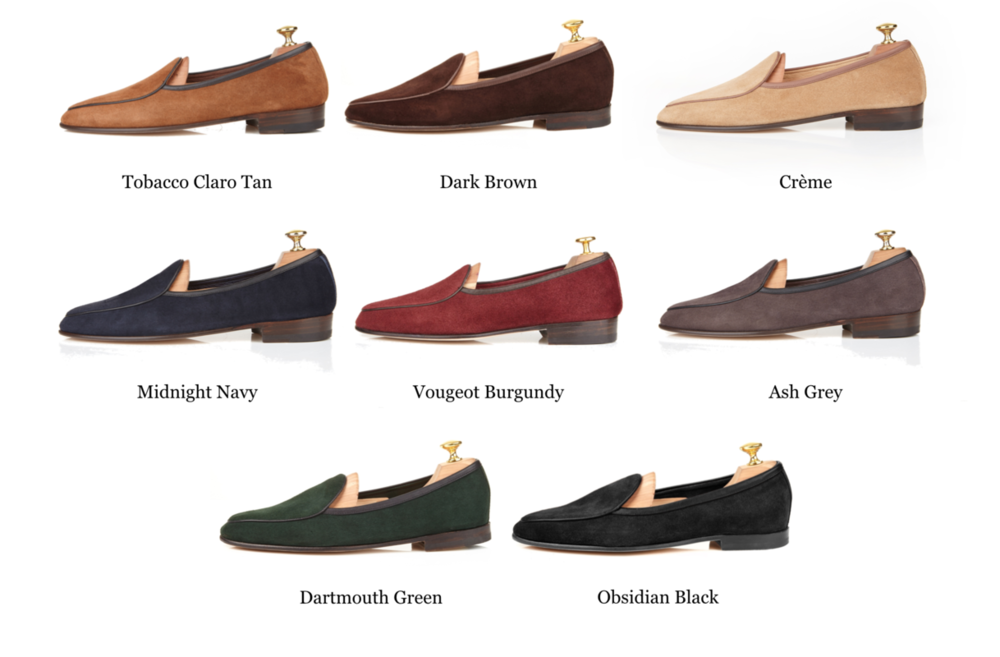 Available suede leather colors