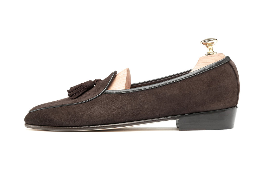 Dark Brown Tassel Loafers - Mens Loafers - Womens Loafers
