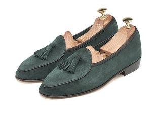 Dartmouth Green Tassel Loafers - Mens Loafers - Womens Loafers