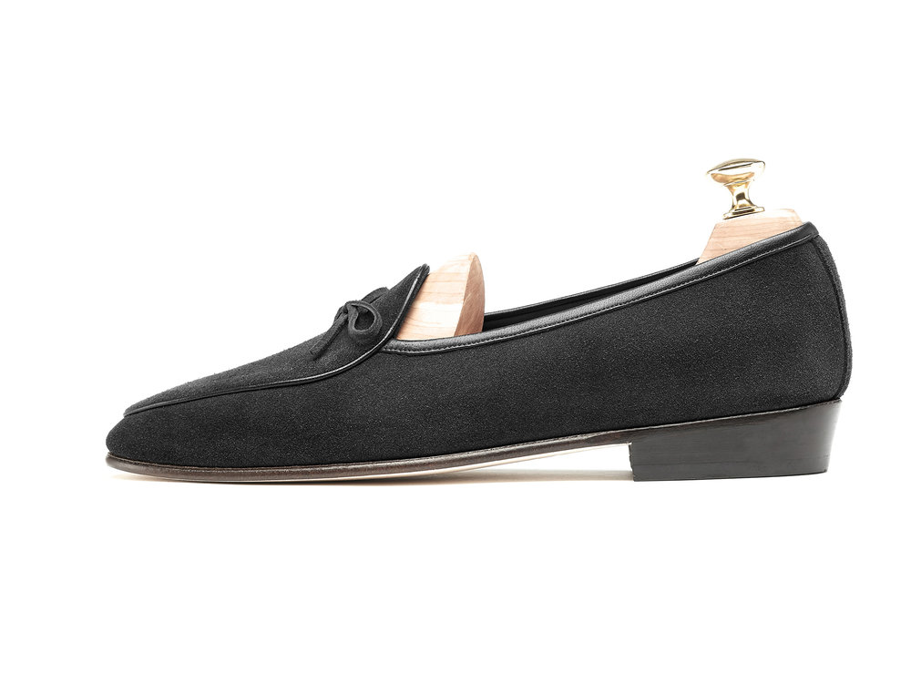 Obsidian Black String Loafers - Mens Loafers - Womens Loafers
