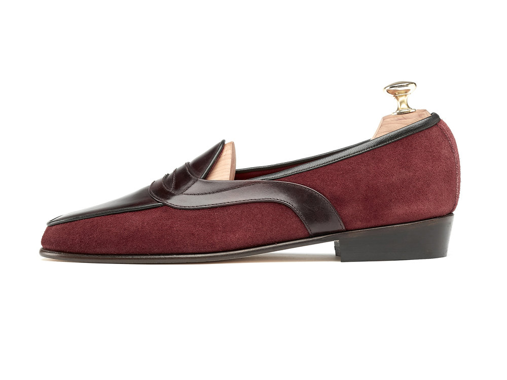86ee16e4a4d Burgundy Museum Calf Penny Loafers - Mens Loafers - Womens Loafers