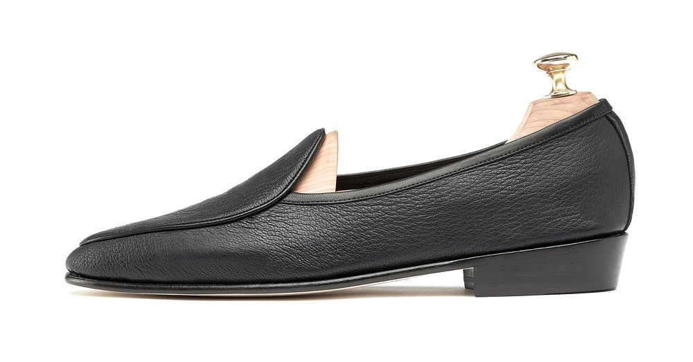Mens Black Leather Loafers