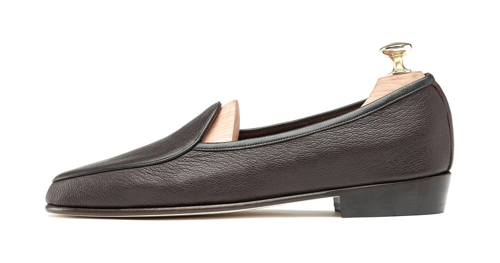 Mens Dark Brown Leather Loafers