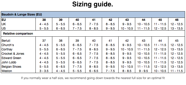 Men Loafers Sizing