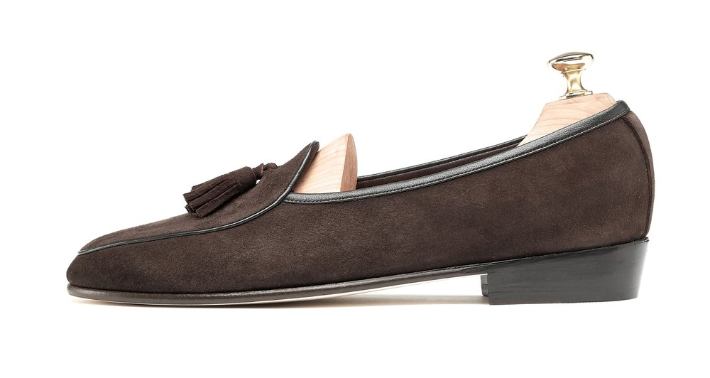Belgian Tassel Loafers Dark Brown