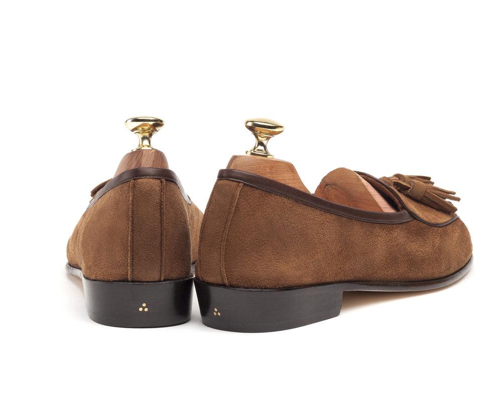 Belgian Tassel Loafers Tan