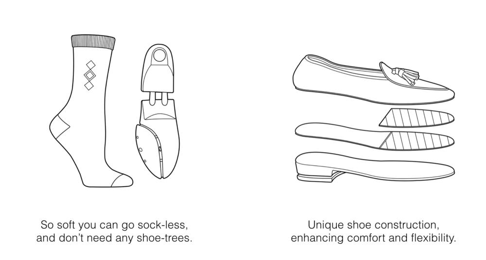 Mens Navy Grey Tassel Loafers
