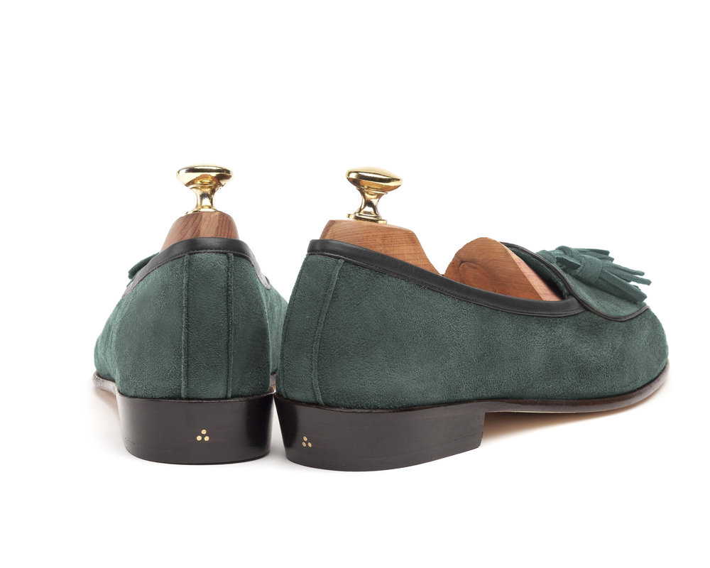 Belgian Tassel Loafers Green