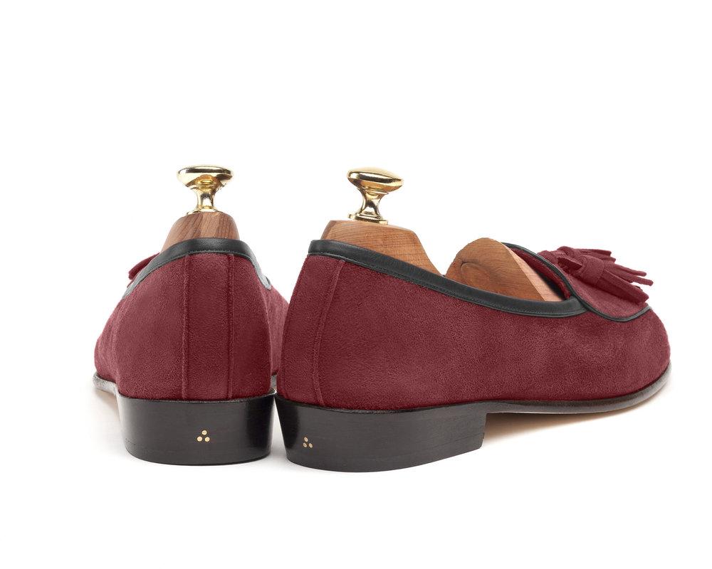 Burgundy Belgian Tassel Loafers