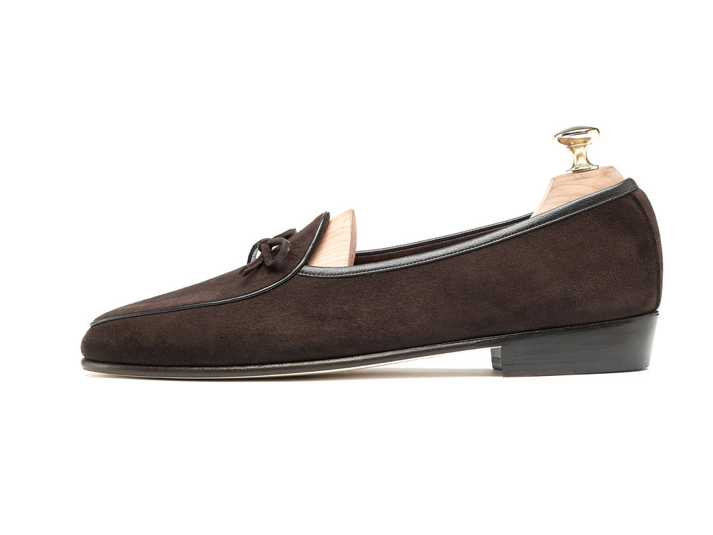 Mens String Loafers Dark Brown