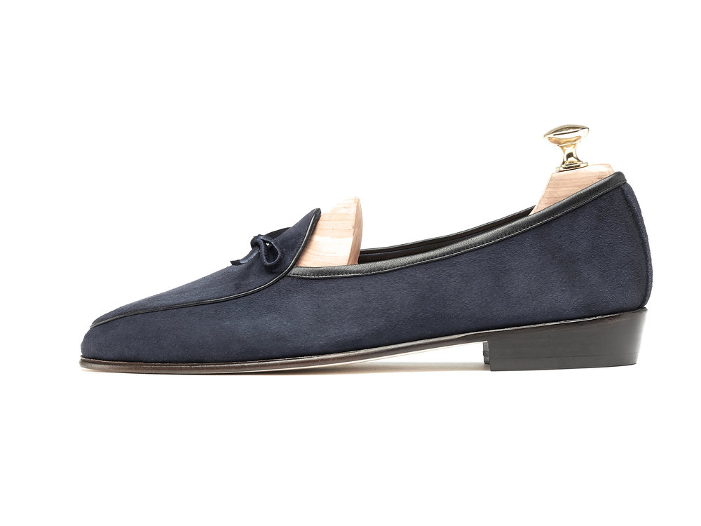 Belgian Navy String Loafers