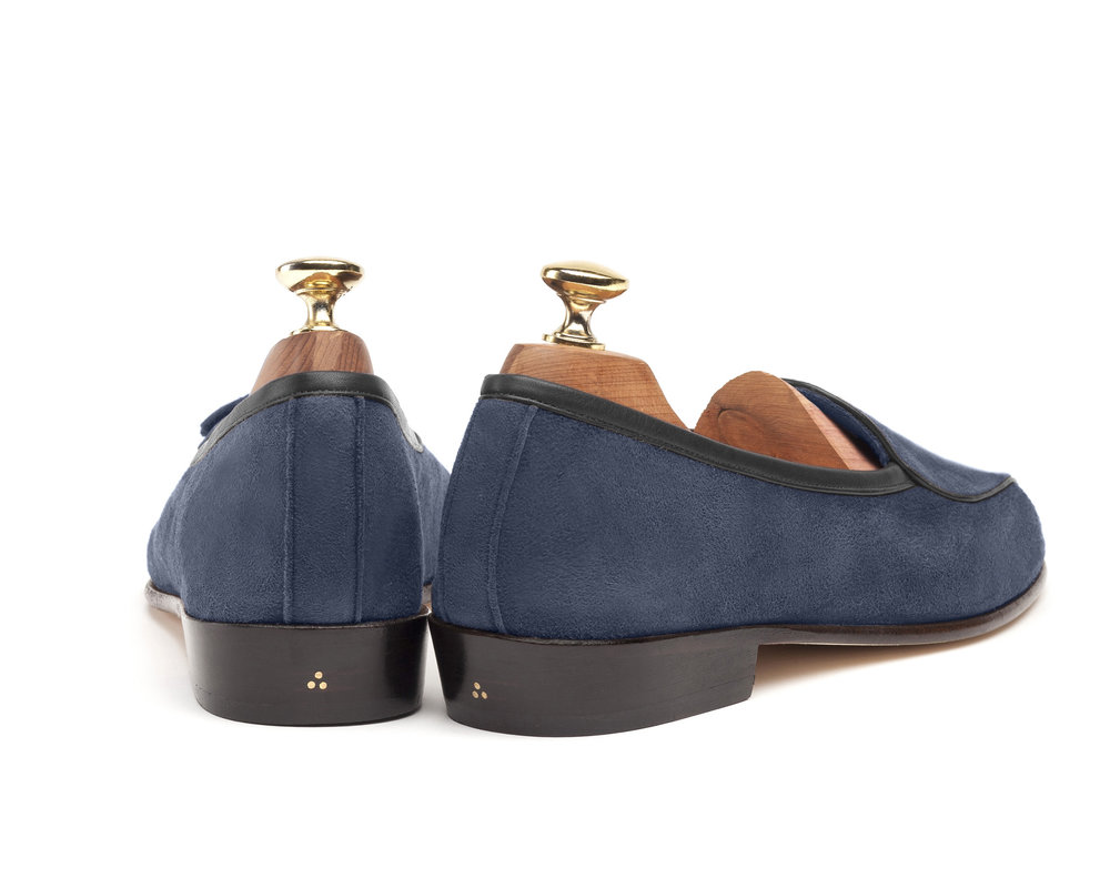 Belgian Indigo String Loafers