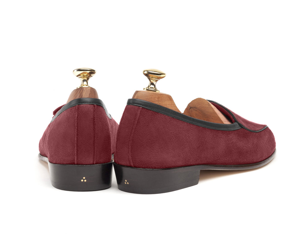 Belgian Burgundy String Loafers