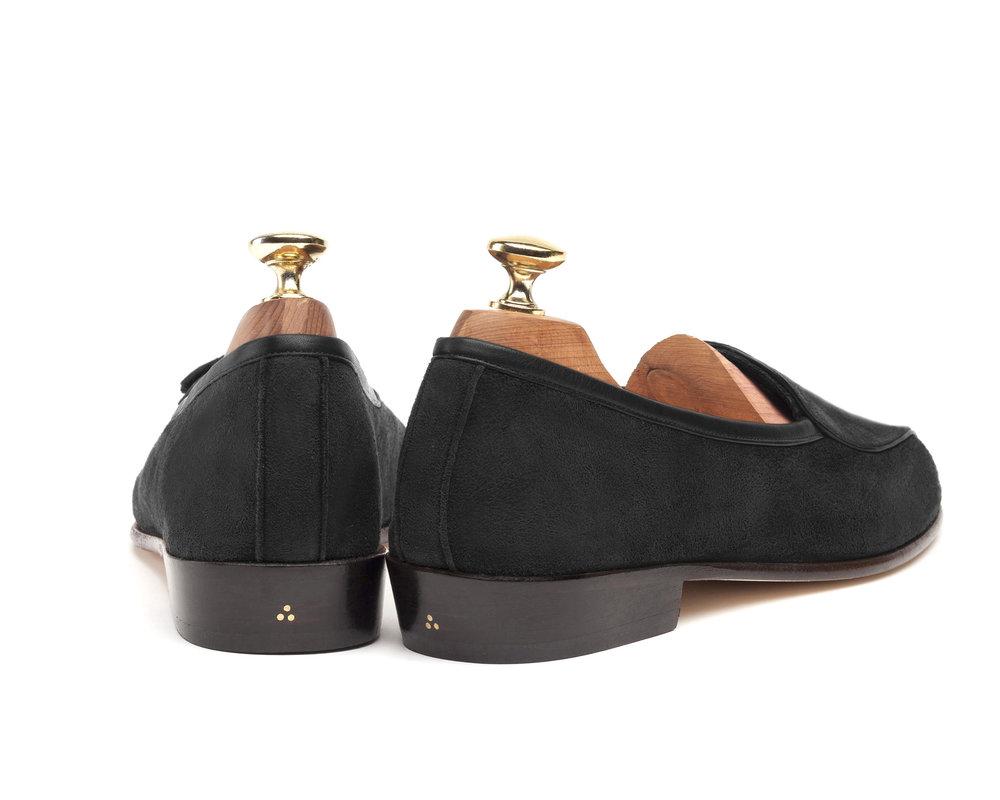 Belgian Black String Loafers