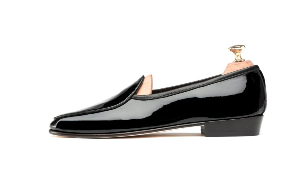 Mens Black Patent Shoes