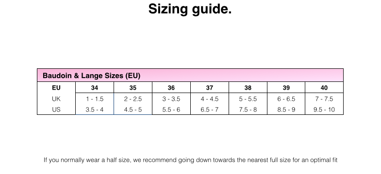 womens loafers size guide