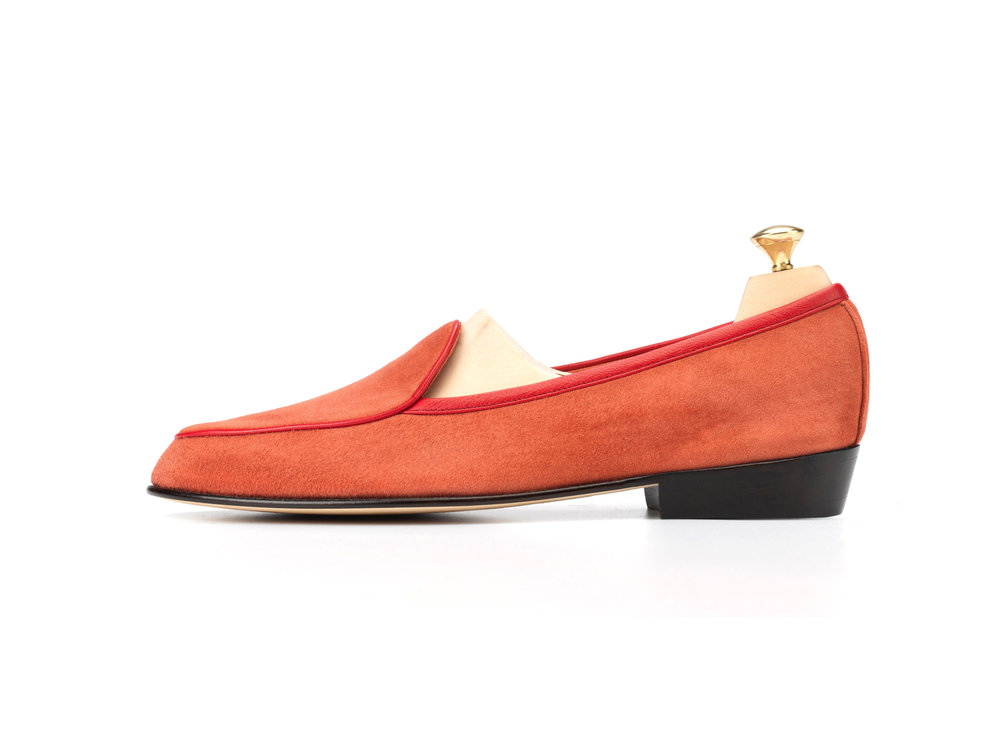 29839afe65c837 Coral Red - Classic Loafers - Mens Loafers - Womens Loafers