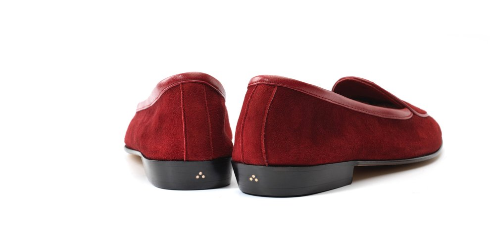 Womens Chaperon Red Bow Loafers
