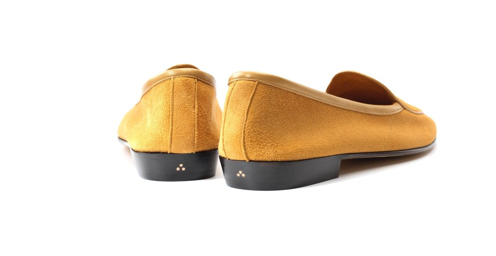 Womens Camel YellowBow Loafers