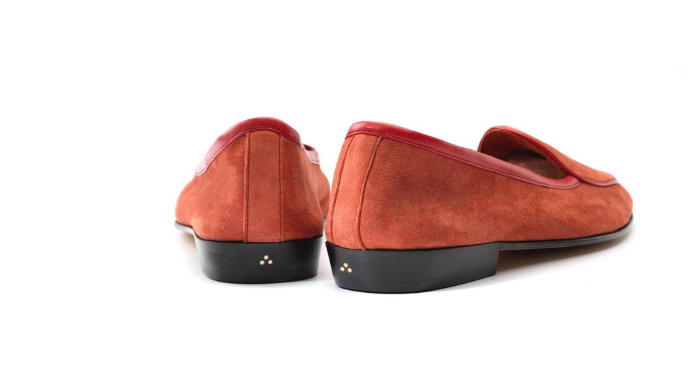 Womens Red Loafers