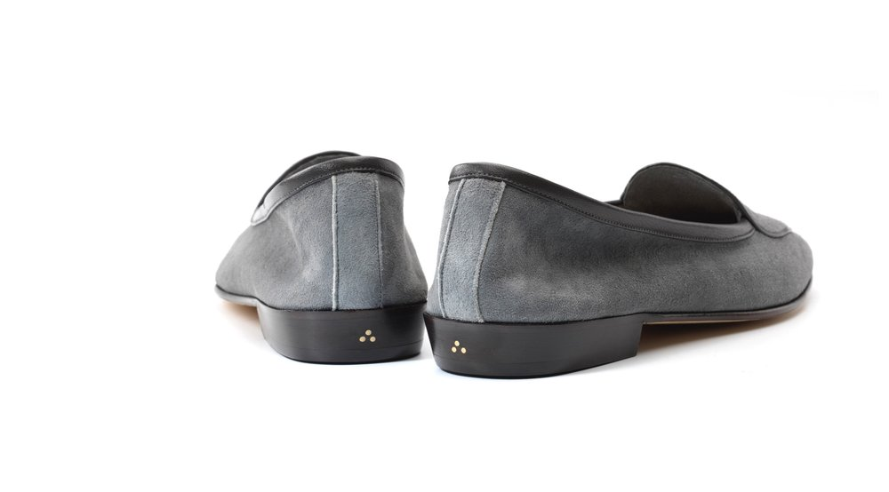 grey loafers womens