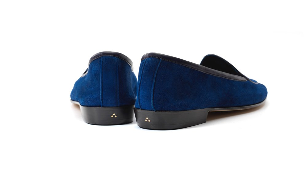 blue loafers womens