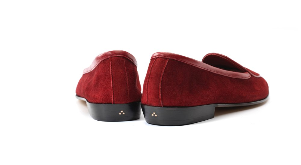red loafers women