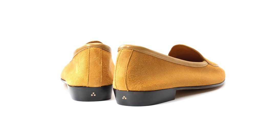 Camel Yellow String Loafers Womens