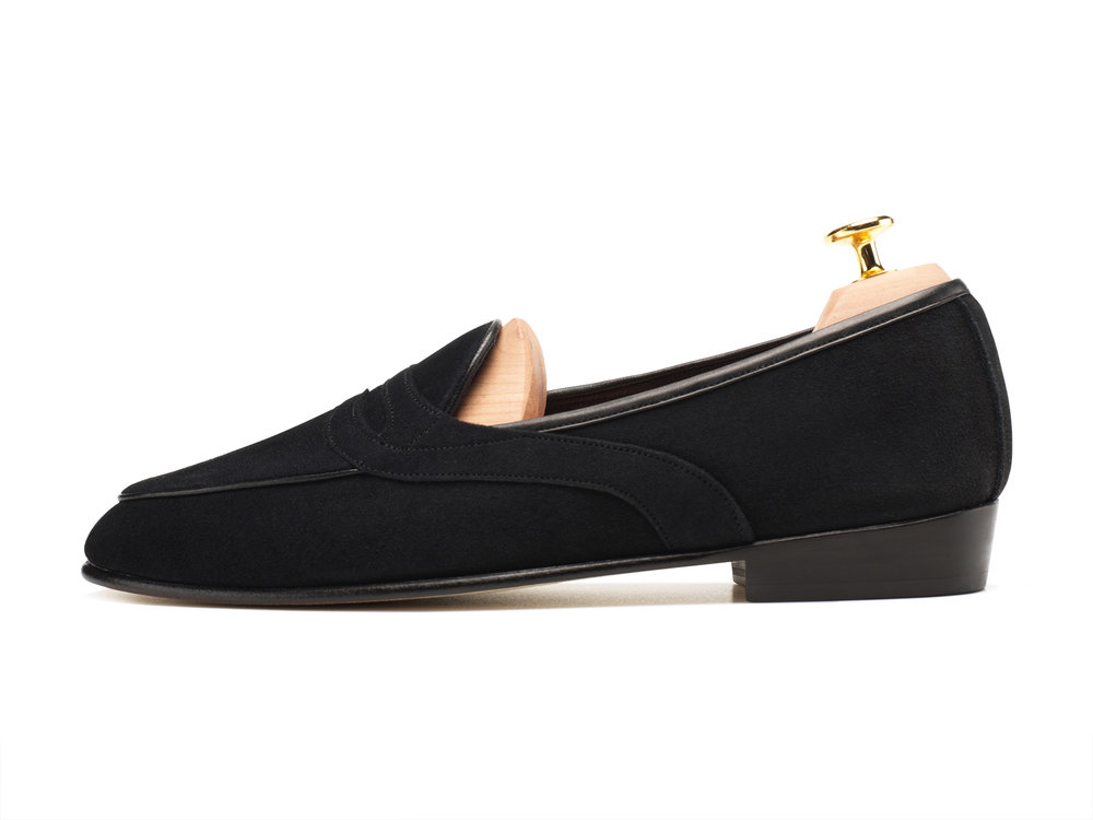 b3073c68babf21 Black Saddle Penny Loafers - Mens Loafers - Womens Loafers