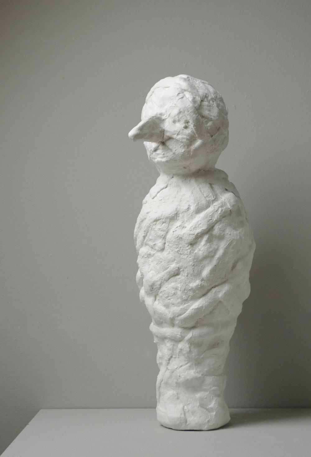 _________________  2018  plaster cloth  aluminum foil  25.5 x 9 x 11.5  _________________