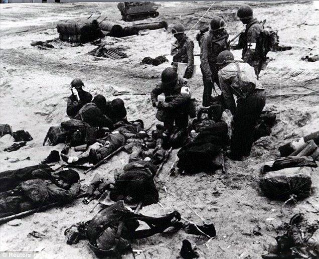 D-Day casualties, 1944