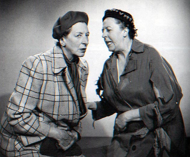 Sisters Elsie and Doris Waters never married, but made a successful showbiz career together as 'Gert and Daisy'.