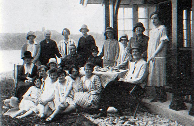 Picnics and prayer meetings: members of the Christian Alliance of Women and Girls on holiday in Scarborough, 1929.