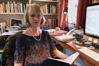 Virginia in her study, 2016